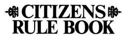 Citizens rule book Logo